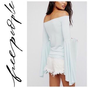 NEW Free People Bell Sleeve Off Shoulder Blouse